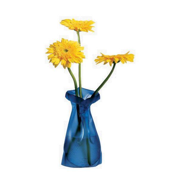 Blumenvase Le Sack blau frost