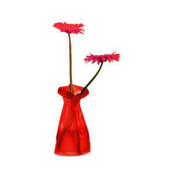 Vase Le Sack givre rouge