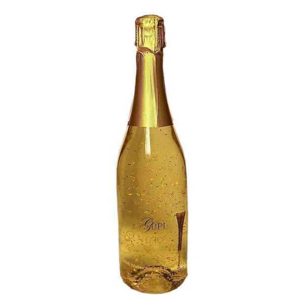 Vin Cüpli avec or en feuilles