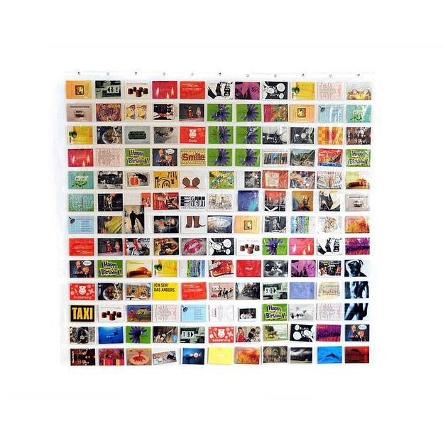 Foto Duschvorhang transparent mit 143 Taschen