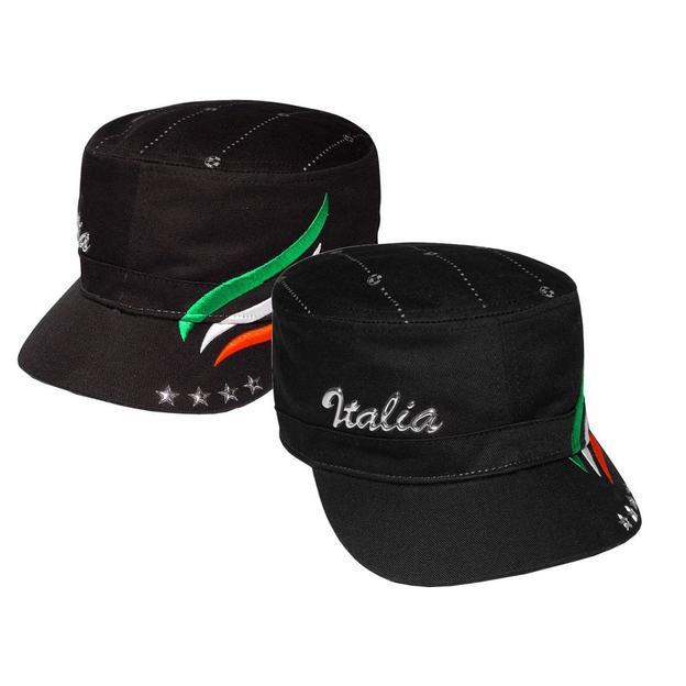 Army Fan-Cap Italia schwarz
