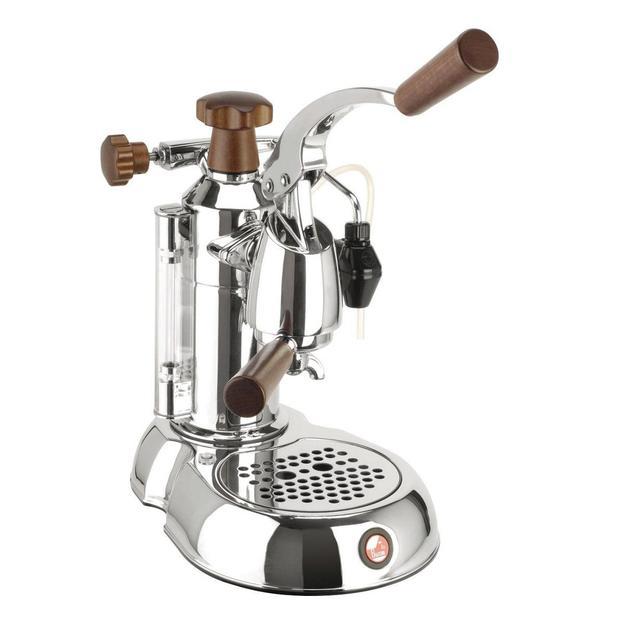 Kaffeemaschine La Pavoni Stradivari Lusso mit Holzgriff