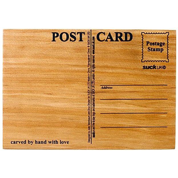 Carte postale en bois