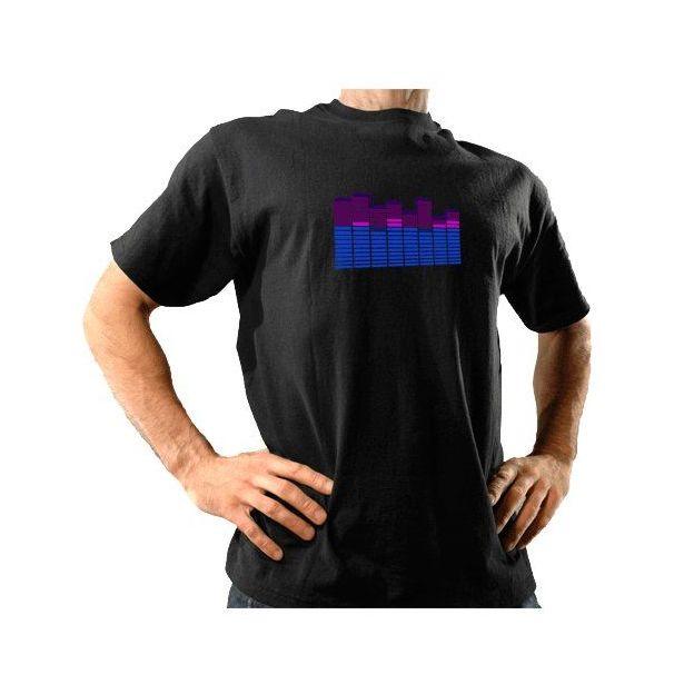 E-Qualizer T-Shirts violett/blau, Grösse XL