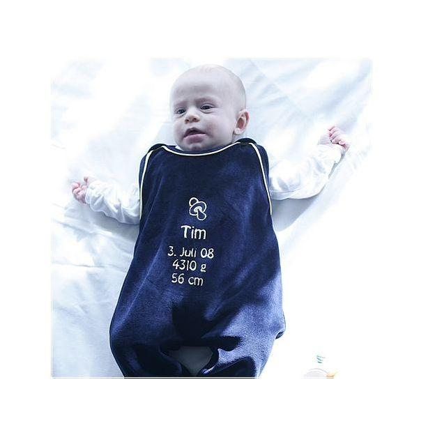 Personalisierbarer Babystrampler Dunkelblau