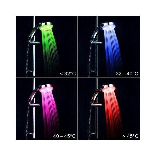 Douche lumineuse LED