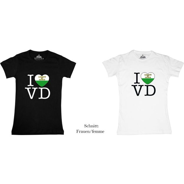 Shirt Canton VD, Blanc, M, Femme