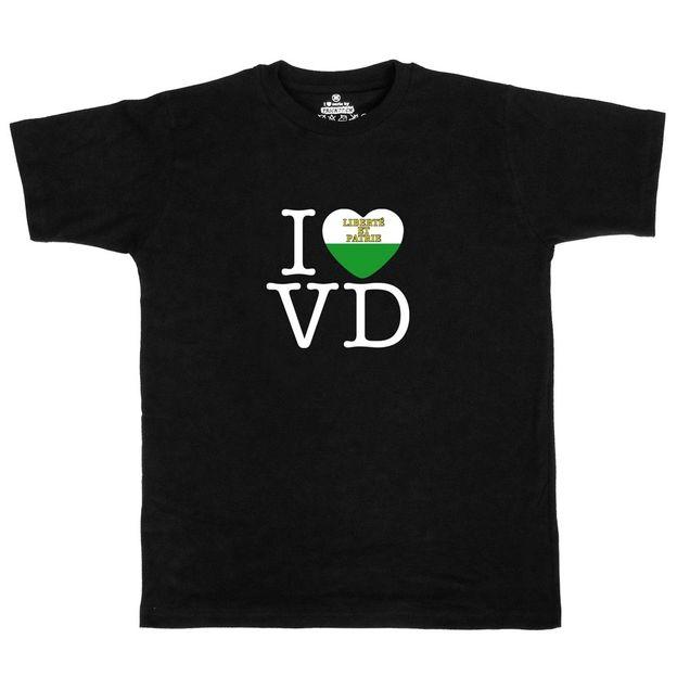 Shirt Canton VD, Noir, L, Femme