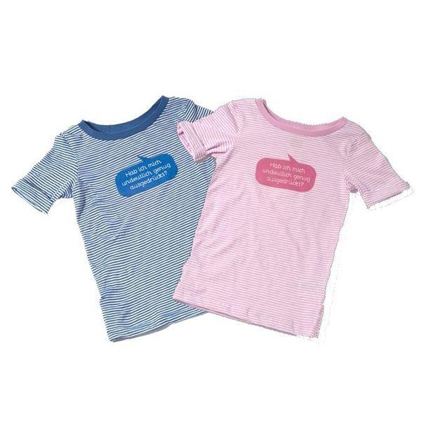 Baby Shirt Stehen bleiben oder... blau  6-12 Monate