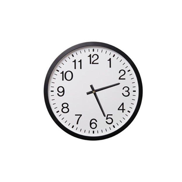 Rückwärtslaufende Uhr schwarz