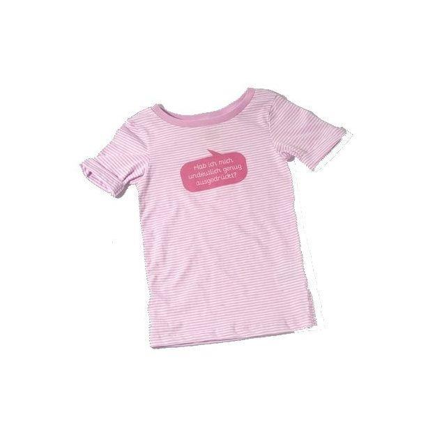 Baby Shirt Habe ich mich undeutlich genug… pink 18-24 Monate