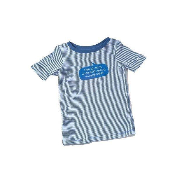 Baby Shirt Habe ich mich undeutlich genug… blau 18-24 Monate