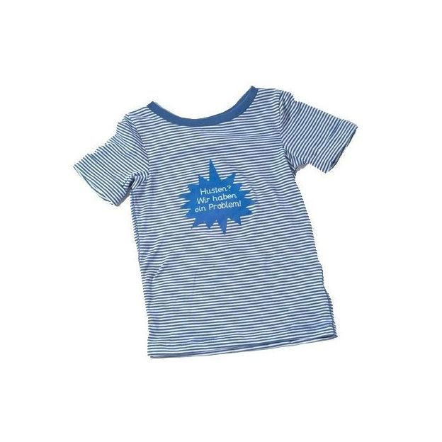 Baby Shirt Husten? blau 18-24 Monate