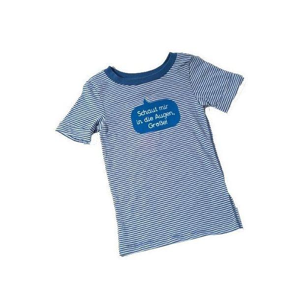 Baby Shirt Schaut mir in die Augen blau 18-24 Monate