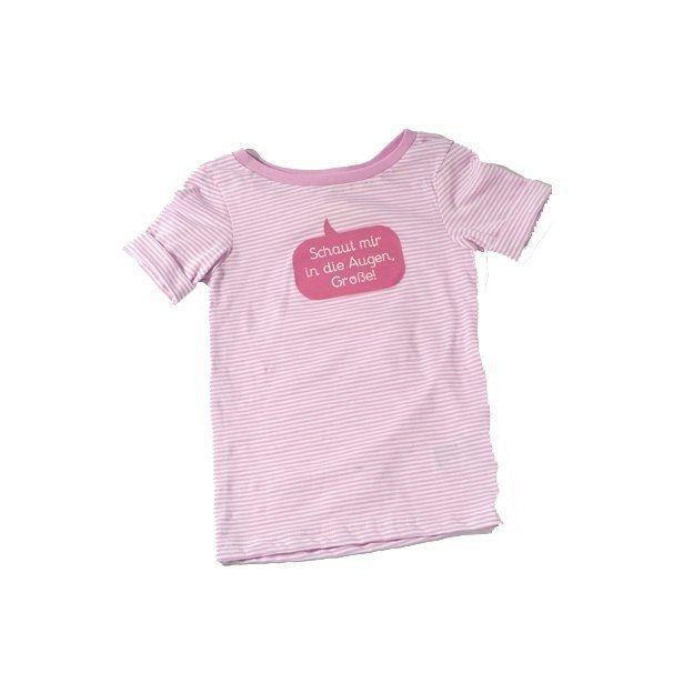 Baby Shirt Schaut mir in die Augen pink 18-24 Monate