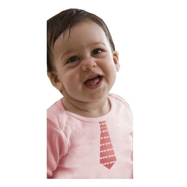 Baby Shirt Schlips rosa 6-12 Monate