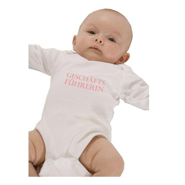 Baby Body Geschäftsführerin pink, 12 Monate