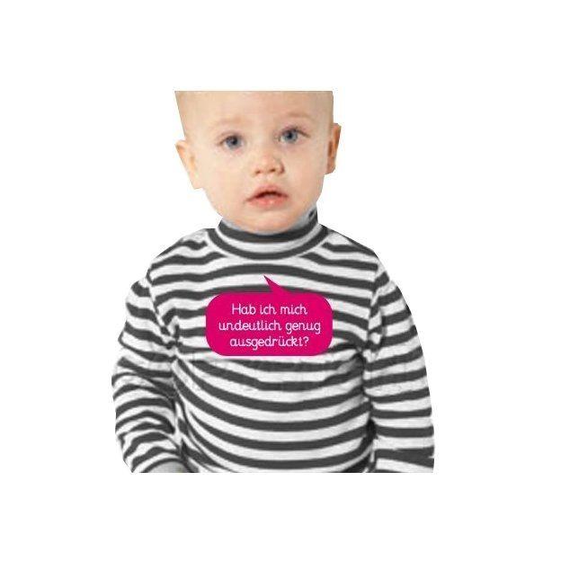 Baby Shirt Habe ich mich undeutlich genug… Langärmlig pink 6-12 Monate
