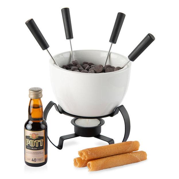 Geschenk Set Schokoladenfondue