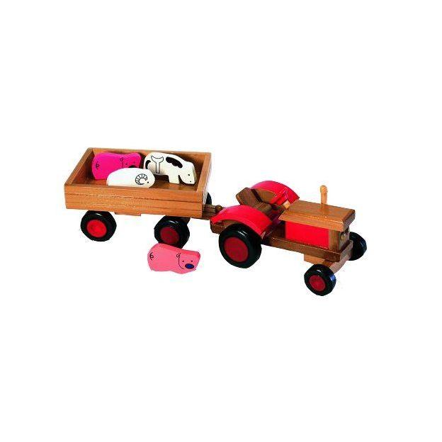 Jouets en bois Tracteur