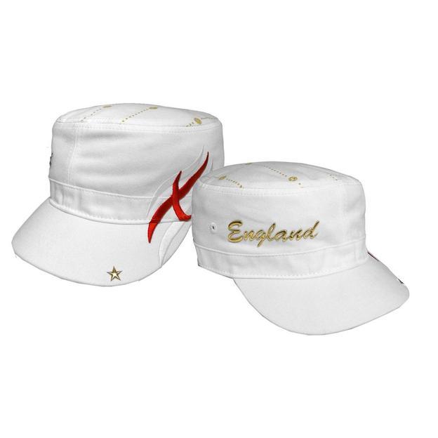 Army Fan-Cap England weiss