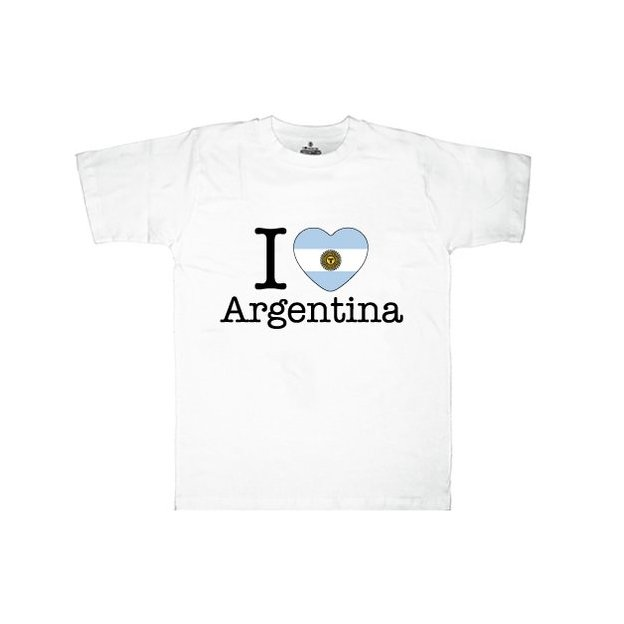 Shirt Nation Argentine, Blanc, S, Homme