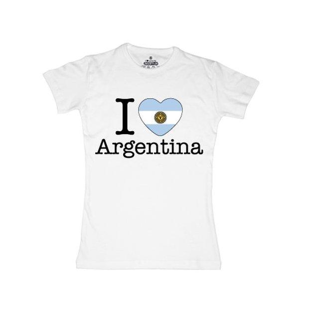 Shirt Nation Argentine, Blanc, L, Femme