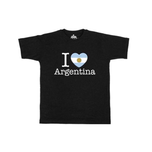 Shirt Nation Argentine, Noir, L, Homme