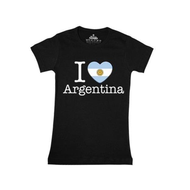 Shirt Nation Argentine, Noir, L, Femme
