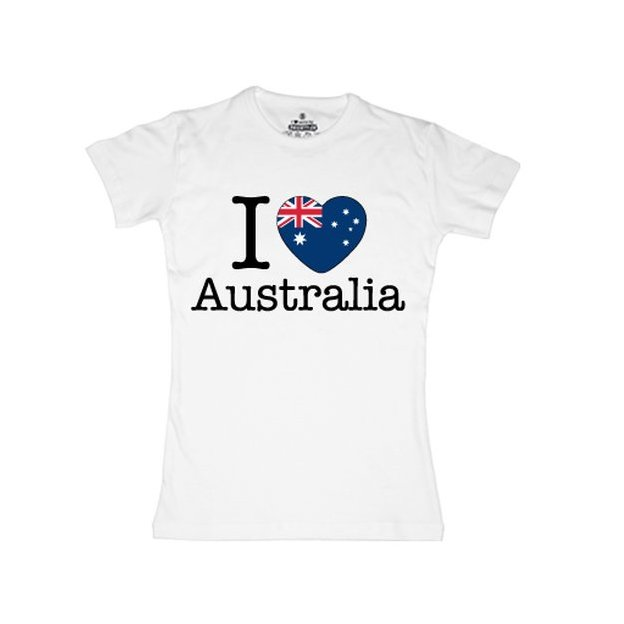 Shirt Nation Australie, Blanc, L, Femme