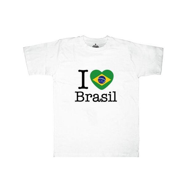 Shirt Nation Brésil, Blanc, L, Homme
