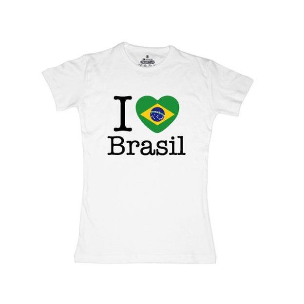 Shirt Nation Brésil, Blanc, M, Femme