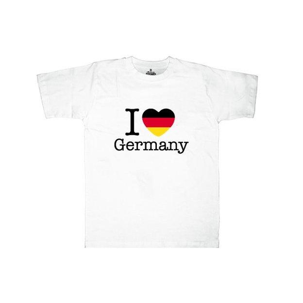 Ländershirt Deutschland, Weiss, XL, Mann