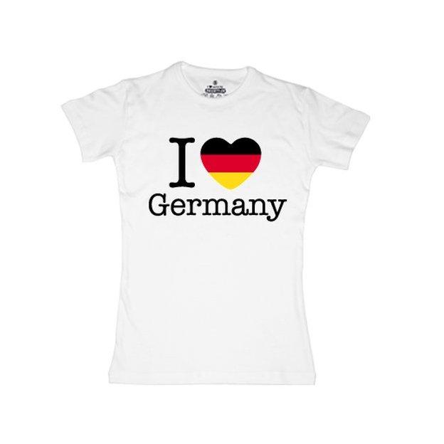 Ländershirt Deutschland, Weiss, S, Frau