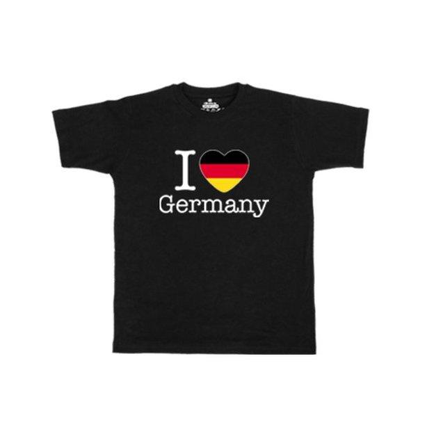 Ländershirt Deutschland, Schwarz, L, Mann