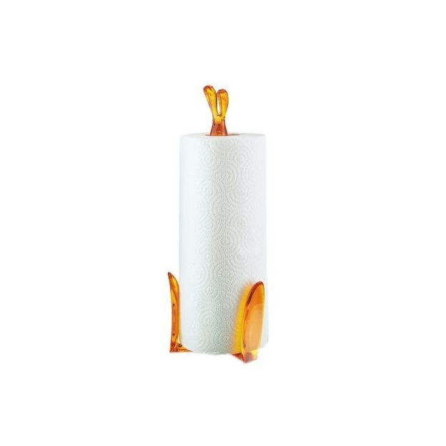 Porte essuie-tout Koziol Roger lapin orange
