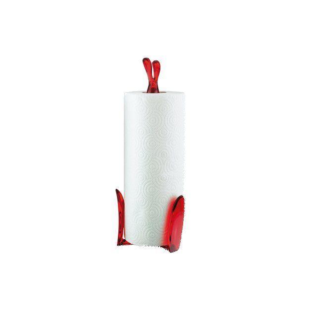 Porte essuie-tout Koziol Roger lapin rouge