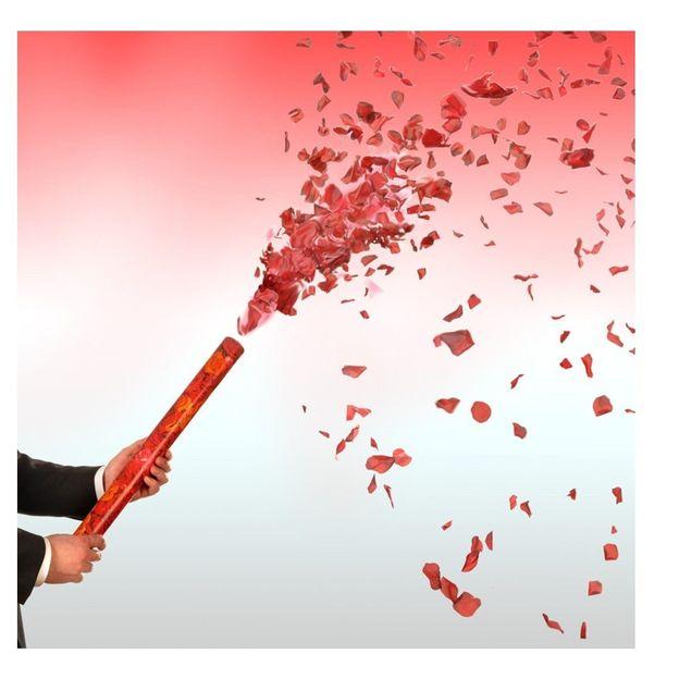 Canon à confettis pluie de roses