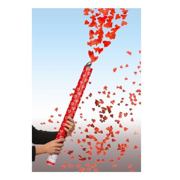 Canon à confettis pluie de coeurs