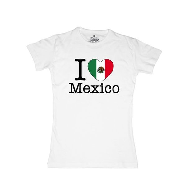 Shirt Nation Mexique, Blanc, M, Femme