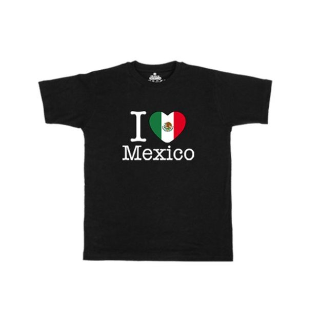 Shirt Nation Mexique, Noir, M, Homme