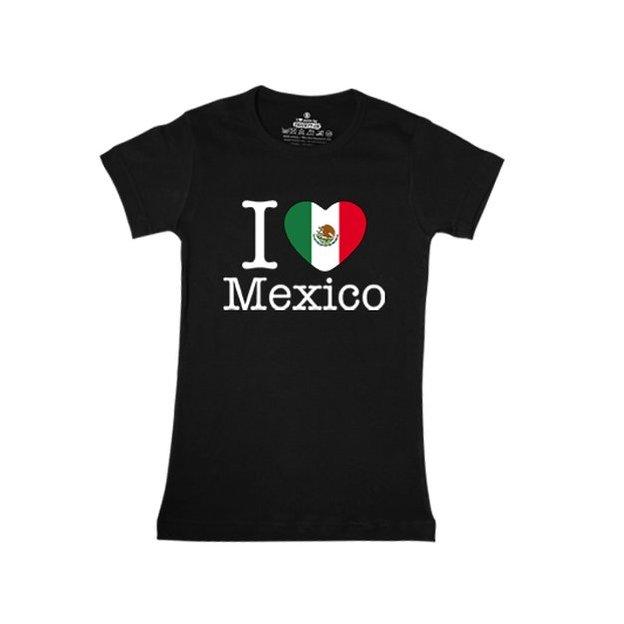 Shirt Nation Mexique, Noir, L, Femme