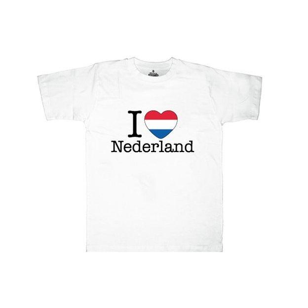 Shirt Nation Hollande, Blanc, S, Homme
