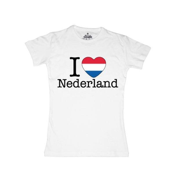 Ländershirt Niederlande, Weiss, S, Frau