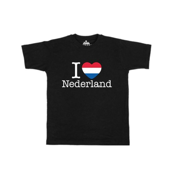 Ländershirt Niederlande, Schwarz, XL, Mann