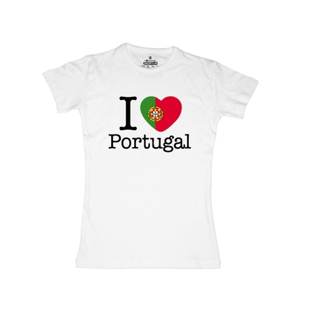 Shirt Nation Portugal, Blanc, L, Femme