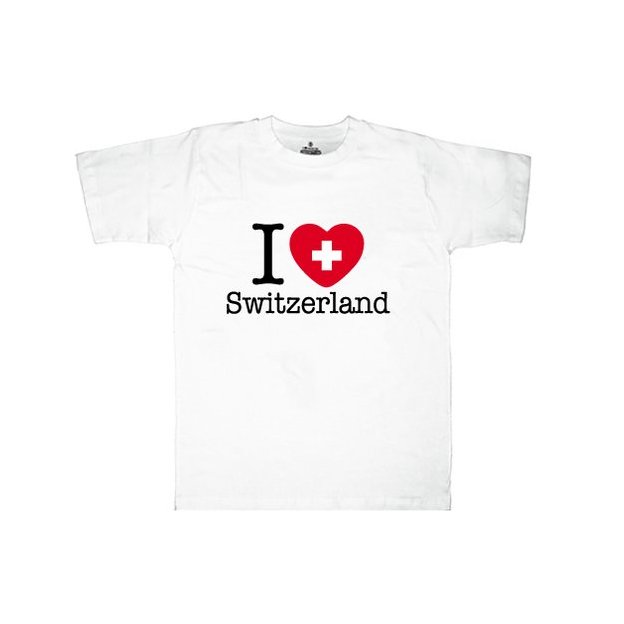 Ländershirt Schweiz, Weiss, L, Mann