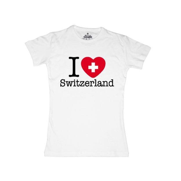 Shirt Nation Suisse, Blanc, L, Femme
