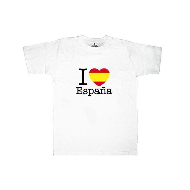 Shirt Nation Espagne, Blanc, L, Homme