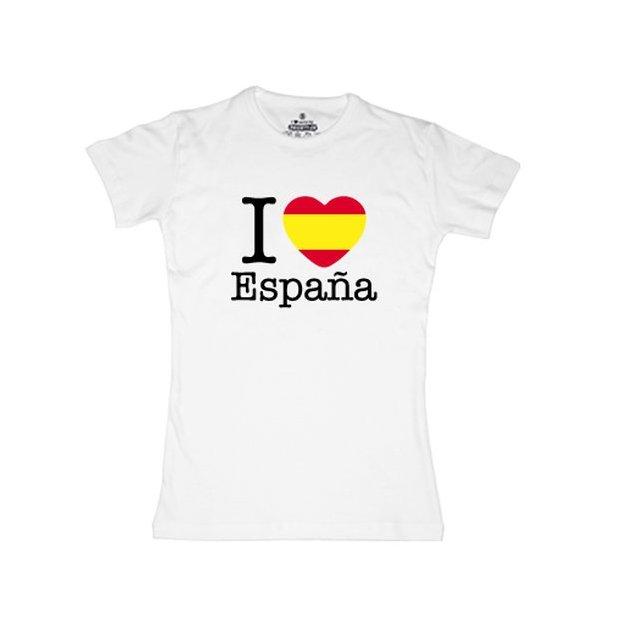 Shirt Nation Espagne, Blanc, M, Femme